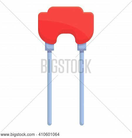 Resistor Icon. Cartoon Of Resistor Vector Icon For Web Design Isolated On White Background