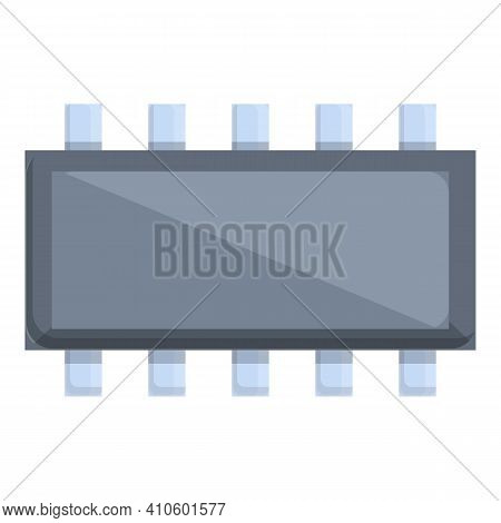 Card Resistor Icon. Cartoon Of Card Resistor Vector Icon For Web Design Isolated On White Background