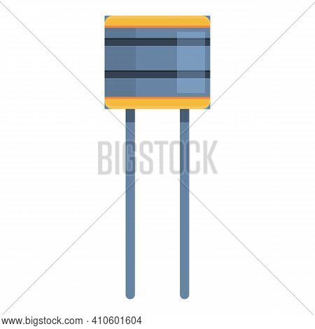 Micro Resistor Icon. Cartoon Of Micro Resistor Vector Icon For Web Design Isolated On White Backgrou