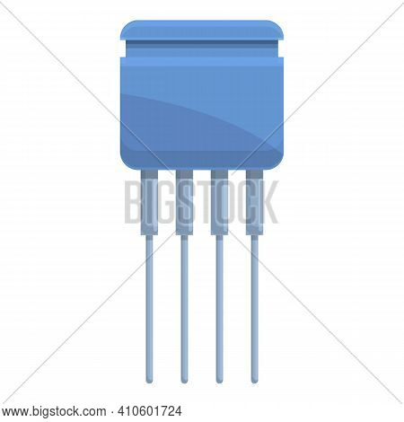 Capacitor Resistor Icon. Cartoon Of Capacitor Resistor Vector Icon For Web Design Isolated On White