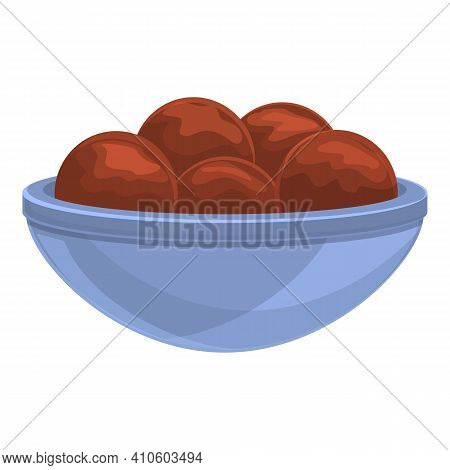 Turkish Falafel Icon. Cartoon Of Turkish Falafel Vector Icon For Web Design Isolated On White Backgr