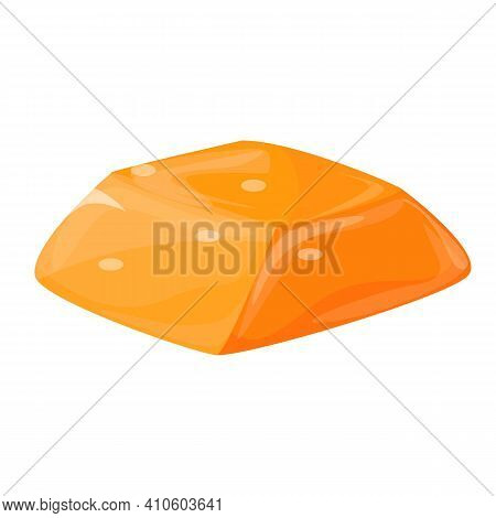 Candy Salted Caramel Icon. Cartoon Of Candy Salted Caramel Vector Icon For Web Design Isolated On Wh