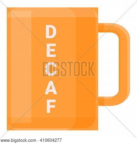 Decaf Mug Icon. Cartoon Of Decaf Mug Vector Icon For Web Design Isolated On White Background