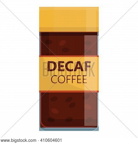Jar Decaf Coffee Icon. Cartoon Of Jar Decaf Coffee Vector Icon For Web Design Isolated On White Back