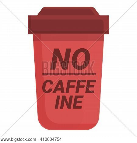 No Caffeine Glass Icon. Cartoon Of No Caffeine Glass Vector Icon For Web Design Isolated On White Ba