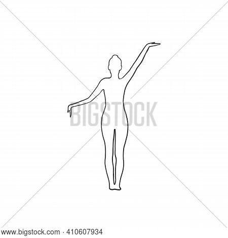 Woman In The Yoga Pose Vector Icon. Yoga Icon. Woman Yoga Vector . Yoga Pose