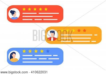 User Reviews And Feedback Concept. User Reviews Online. Customer Feedback Review Experience Rating C