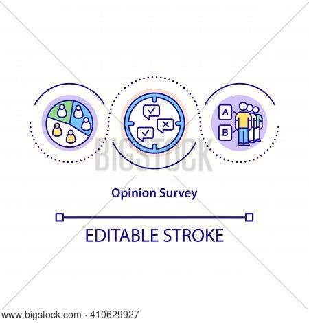 Opinion Survey Concept Icon. Getting People Opinion About Specific Theories. Information Analysis Id