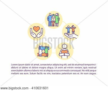 Positive Effects Concept Icon With Text. Health Benefits Of Spending Time With Family. Ppt Page Vect