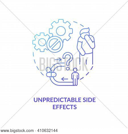 Unpredictable Side Effects Concept Icon. Online Drug Store Idea Thin Line Illustration. Unregistered