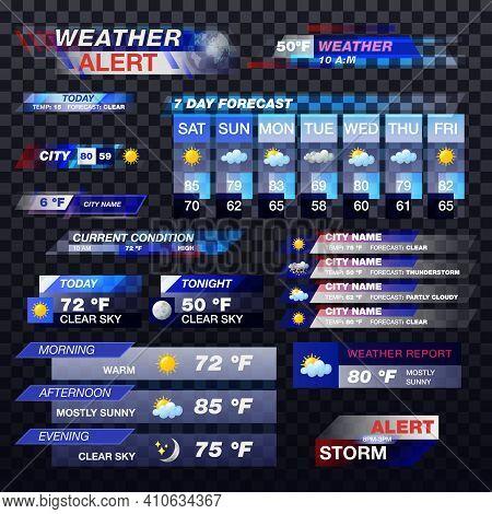 Weather Forecast, Tv Report Alert Template Widgets