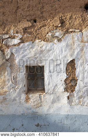 Window Of A Ruined House In An Andalusian Village In Southern Spain