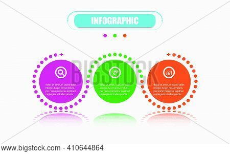 Presentation Business Infographic Template With 3 Options. Vector Infographic Circle Label Banner El
