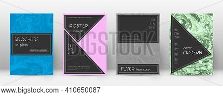Abstract Cover. Creative Design Template. Suminagashi Marble Black Poster. Creative Trendy Abstract