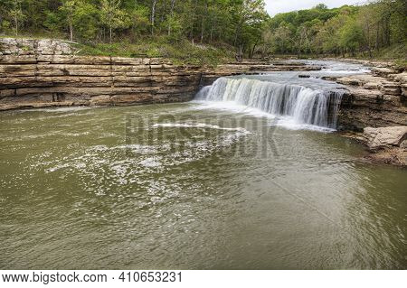 The Upper Cataract Falls In Indiana, United States