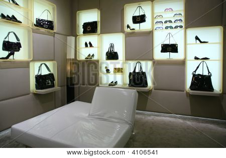 Bags Shoes And Glasses In Store