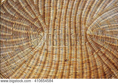 Wooden Beautiful Weaving Background Weaving From Branches