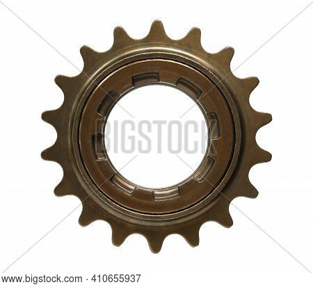 Bicycle Single Speed Freewheel Sprocket (with Clipping Path) Isolated On White Background