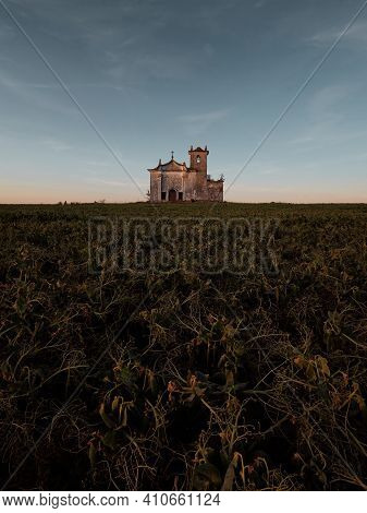 Abandoned Old Church In The Coutryside At Ribatejo, Portugal