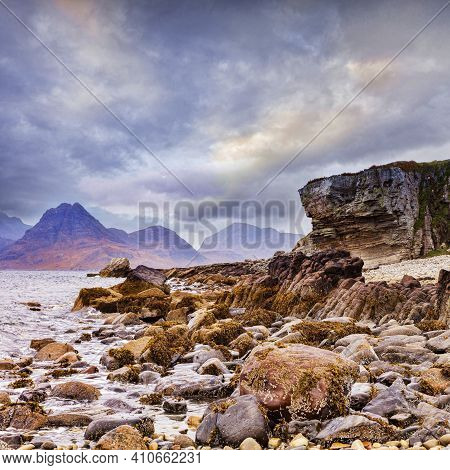 The Cuillins From Elgol On The Isle Of Skye, Inner Hebrides, Scotland.