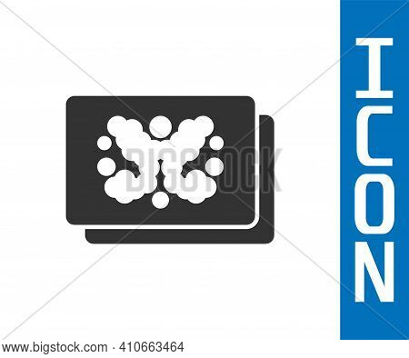 Grey Rorschach Test Icon Isolated On White Background. Psycho Diagnostic Inkblot Test Rorschach. Vec
