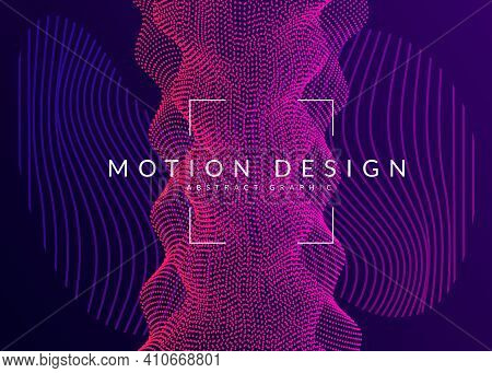 Abstract Music. Dynamic Fluid Shape And Line. Digital Show Magazine Template. Abstract Music Flyer.