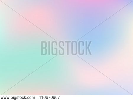 Holographic Abstract Background. Neon Holographic Backdrop With Gradient Mesh. 90s, 80s Retro Style.