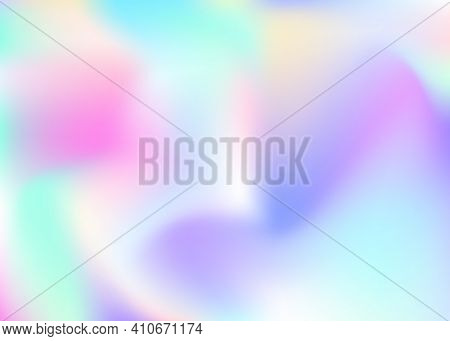 Gradient Mesh Abstract Background. Colorful Holographic Backdrop With Gradient Mesh. 90s, 80s Retro