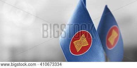 Patch Of The National Flag Of The Asean On A White T-shirt