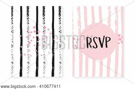 Polka Dot Texture. Golden Abstract Illustration. Rose Gatsby Cover. Engagement Stardust Set. Marriag