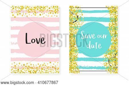 Gold Chic Banner. Mint Print. Stripe Nursery Spray. White Marriage Brochure. Pink Magic Invite. Gold