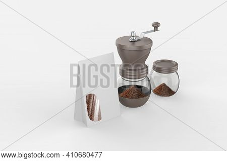 Manual Coffee Grinder Stainless Steel Material Coffee Bean Hand Grinder Commercial Adjustable Settin