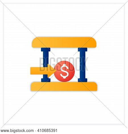 Bank Loans Flat Icon. Access To Bank Loans. Instant Card Issuance Concept. Quick Money Access. Mobil