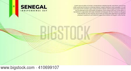 Background With Red Yellow And Green Design. Senegal Independence Day Background. Good Template For