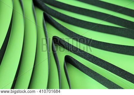Green Abstract Tree In A Minimalist Style. Ecological Concept. Green Geometric Background.green Laye