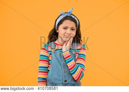 Dental Disease. Toothache As Dental Pain. Plan To Visit Dentist. Dentist Appointment. Little Child S