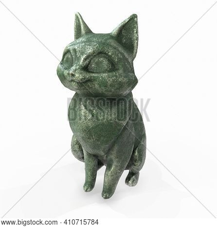 3d Rendered Images Of Cat Statue Pharaoh, Illustration, Cat, Computer, Generated, Scepter, Sceptre,