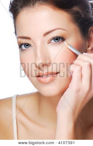 White Cosmetic Pencil Eyeliner