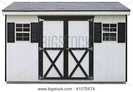 dual door storage shed