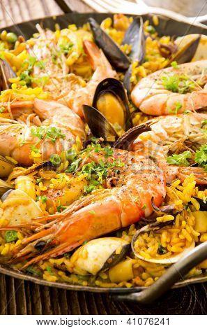 seafood paella poster