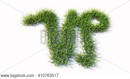 Concept conceptual green summer lawn grass symbol shape isolated white background, sign of capricorn zodiac sign. 3d illustration symbol for  esoteric, the mystic, the power of prediction of astrology