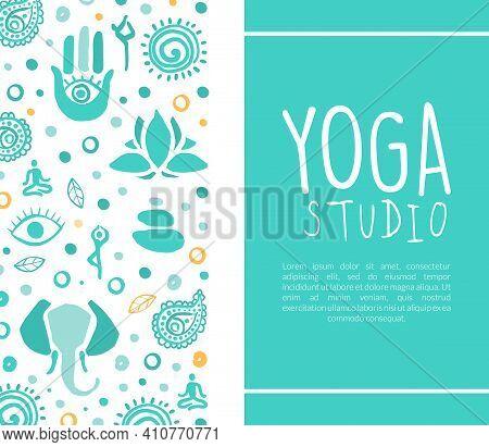 Yoga Studio Business Card, Ayurveda, Traditional Medicine, Meditation Class, Spiritual Practice Hand