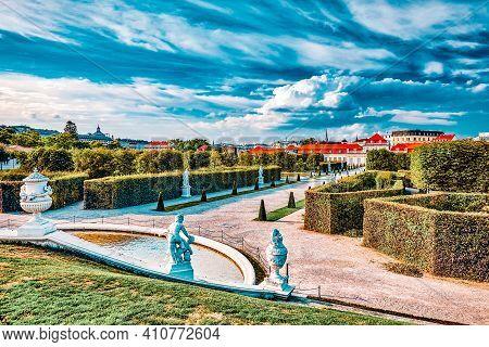 Lower Belvedere. Main Palace Complex Belvedere.vienna.austria.
