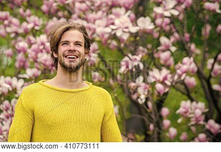 Botanical Garden. Freshness And Awakening. Tender Flowers. Hipster Enjoy Blossom. Springtime Concept
