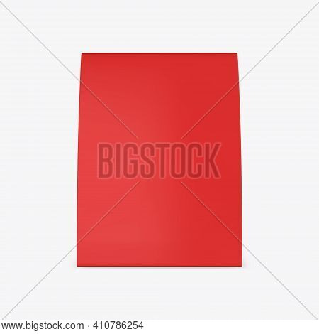 Promotional Blank Table Tent Mockup, Red Table Card Set Mockup For Design Uses, Triangular Paper Car