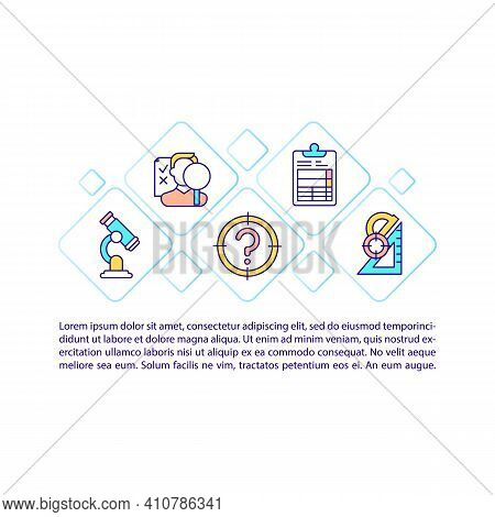 Scientific Research Concept Icon With Text. Solve Certain Problems With Use Of Science. Ppt Page Vec