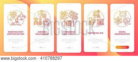 Supporting Sme Onboarding Mobile App Page Screen With Concepts. Propping Up Economies Of Country Wal