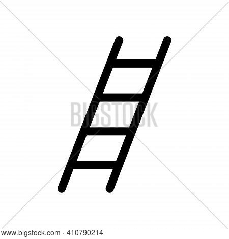Ladder Vector Icon. Safety And Industry Symbol. Ladders Sign. Construction Climb Tool Logo Silhouett