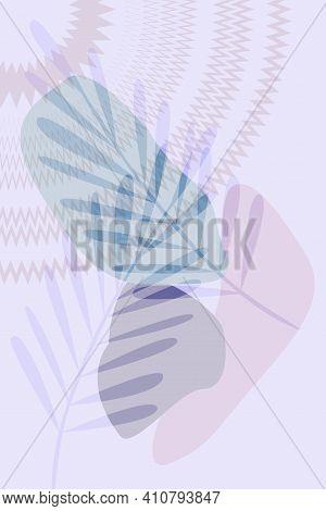 Abstract Modern Botanical Sun  Poster . Color Vector Minimalism