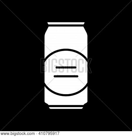 Beer Can Dark Mode Glyph Icon. Alcoholic Drink. Aluminium Container. Party Alcohol. Ale In Can. Beve